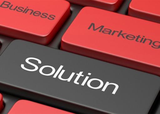 Solutions marketing business keyboard graphic Hicks Carter Hicks