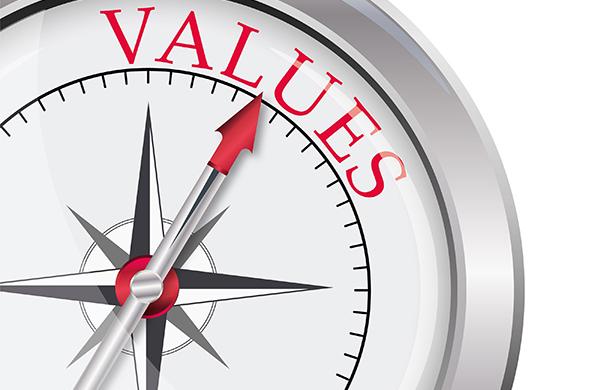 Values compass graphic Hicks Carter Hicks